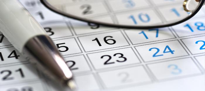 Attorney Jim Goldsmith - Important Calendar Dates