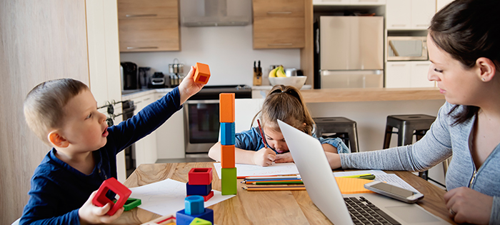 Family Working At Home